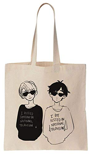 Finest Prints Yuri Katsuki And Victor Nikiforov Together Cotton Canvas Tote Bag -