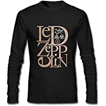 Customized Led Zeppelin Hard Rock Tshirts for Herrens Long Sleeve schwarz XXXX-L