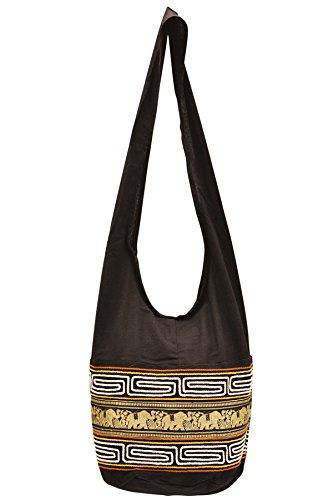 Your Cozy Cómodas bolsas hondas con diseño de elefante ablandan algodón (oro)