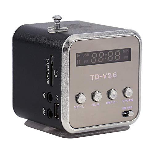 Zerone Mini Altavoz Digital, Soporte Tarjeta TF Disco USB Reproductor de Música...