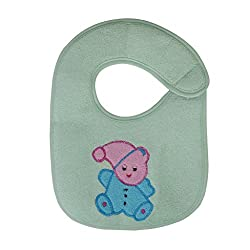 Aarushi Soft Cotton Velcro Baby Bib (Colours May Vary)