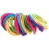 Allsorts® 36 Bright Coloured Endless Elastics Hair Bobbles Elastic Bands Hair Accessory