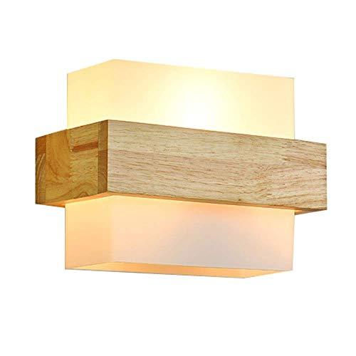 GENGJ Moderno Minimalista Vidrio lámpara Pared Madera
