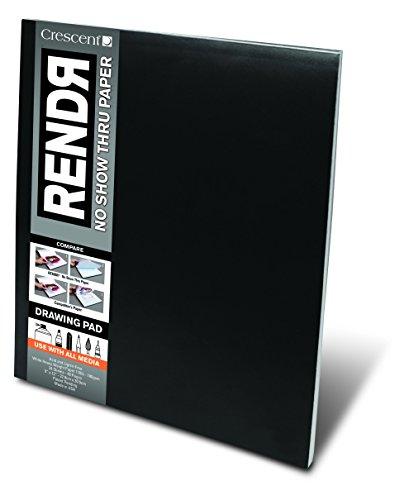 RENDR Markerpapier - Zeichenblock 48 Seiten/24 Blatt - 180g - 23x30,5cm