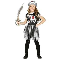 Disfraz de pirata con esqueleto para niña (10-12 años)
