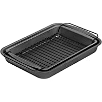 G & S Metal Products Company PB7992 ProBake Teflon Nonstick Bake, Broil, and Roast Pan, 3-Piece Set, Charcoal