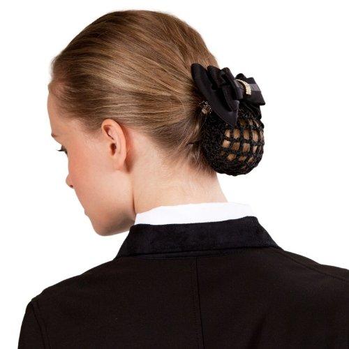 Haarnetz für Turniere Haarspange mit Netz u edler Schnalle m Kristallsteinen