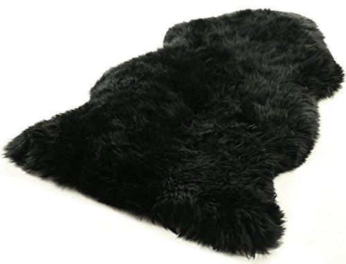 Australisches Lammfell schwarz echtes Fell XXL vom deutschen Fachhändler