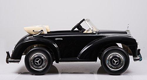 RC Auto kaufen Kinderauto Bild 5: Mercedes Benz 300s Oldtimer Lizenz Kinderfahrzeug mit 2x 35W Motor Kinderauto Elektroauto Fernbedienung MP3 Anschluss in Schwarz*