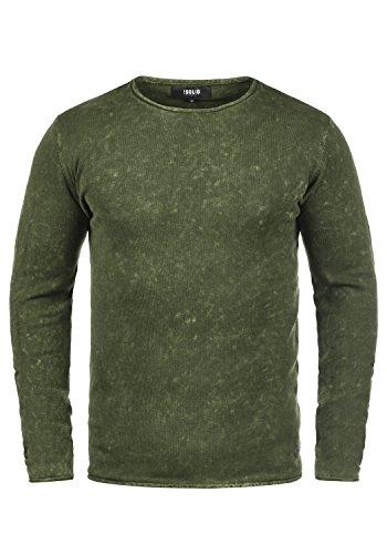 !Solid Kirisaku Herren Strickpullover Feinstrick Pulli mit Rundhals-Ausschnitt Aus 100% Baumwolle, Größe:M, Farbe:Climb Ivy (3785) (Polo-pullover Solid)