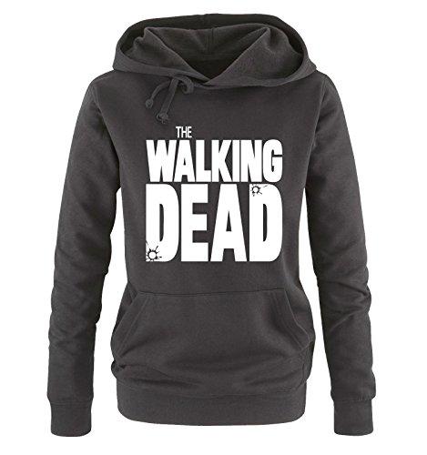Comedy Shirts - THE WALKING DEAD - LOGO - Damen Hoodie - Schwarz / Weiss Gr. L (Walking Dead Hats)