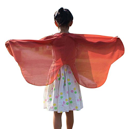 Weiche Gewebe Schmetterlingsflügel Schal feenhafte Nymphe Pixie Halloween Weihnachten Karneval Cosplay Kostüm Zusatz Frauen Karneval Parade 118 * 48CM Schal Umhang ()