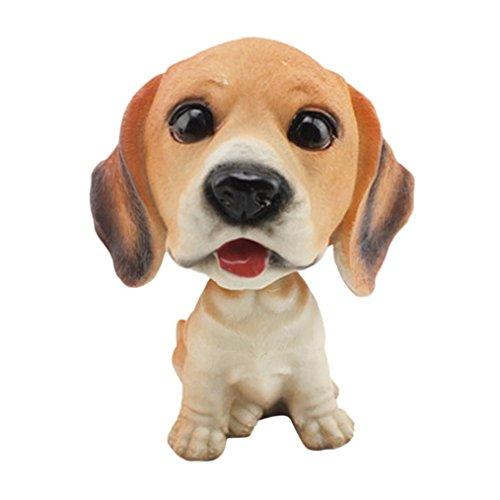 HKFV - Estupendas figuritas decorativas con forma de perro, para el salpicadero del coche