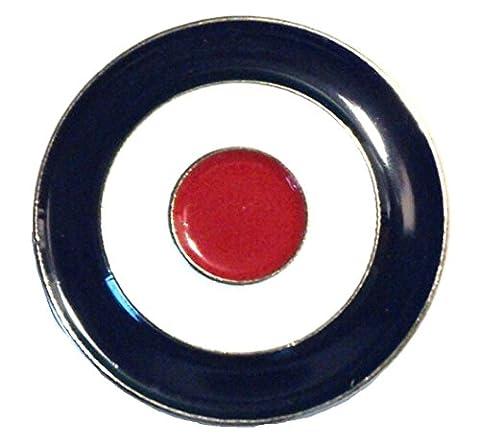 Rouge Blanc et Bleu mod RAF Cible Cocarde Scooter Métal Badge en émail