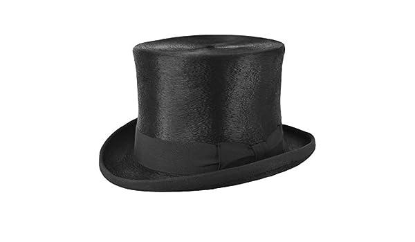 Cappello a cilindro top quality melousine lucido nero