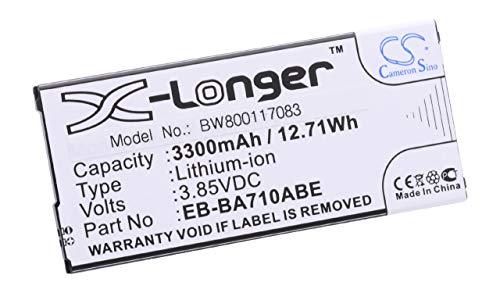 vhbw Li-ION Batterie 3300mAh (3.85V) pour téléphone Portable Mobil Smartphone comme Samsung EB-BA710ABE