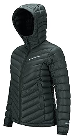 Peak Performance Frost Down Hooded Jacket Women, Green, Women, Frost Down Hooded, verde (black olive), Small