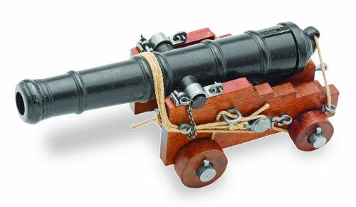 Replica di cannone della Marina inglese, del Secolo XVIII di 28cm, in legno e metallo