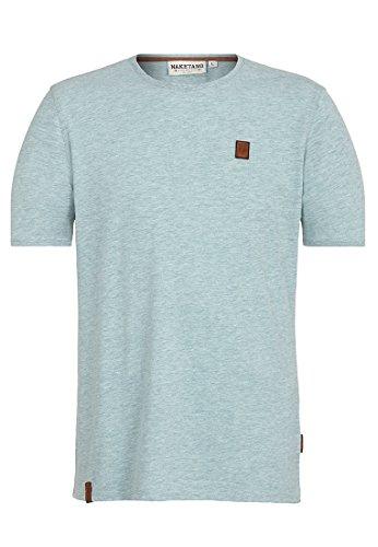 Naketano Male T-Shirt Italienischer Hengst VI Wiederkäuer Grün Melange
