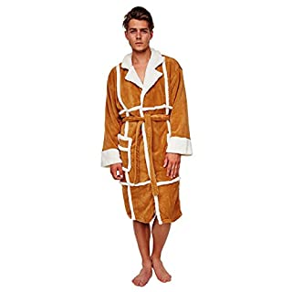 Army And Workwear Herren Bademantel Only Fools And Horses, Del Boy Sheep Skin Design