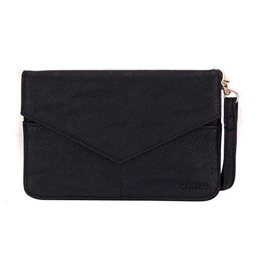 Conze da donna portafoglio tutto borsa con spallacci per Smart Phone per ZTE Axon Mini Grigio grigio nero