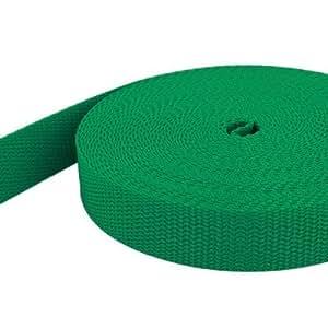 10m PP Gurtband - 20mm breit - 1,4mm stark - grün (UV)