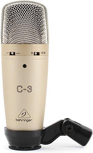 Microfono da Studio Behringer C3 Condensatore Doppio Diaframma Largo Niederfrequenz-wandler