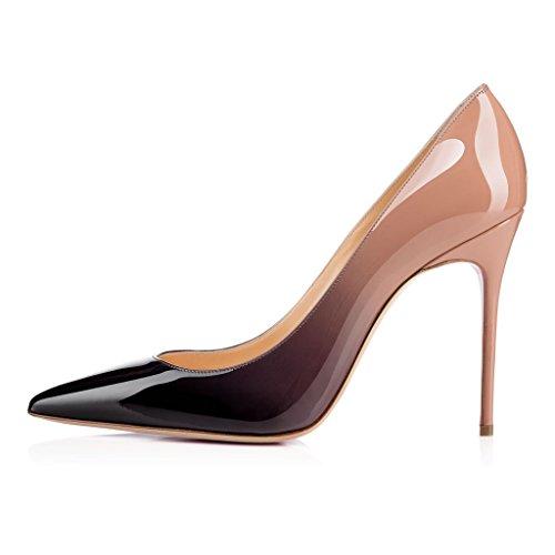 Centímetros Básica Edefs Gecollete Faschion Lingerie Sapatos Salto Escritório Bombas 10 Alto Gradiente BwfOx