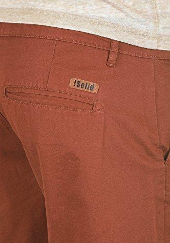 SOLID Thement Herren Chino-Shorts kurze Hose Business-Shorts aus 100% Baumwolle Fox Brown (6792)