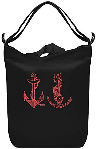 2 Anker - 2 anchors Canvas Day Bag Custom Printed Handbag Fashion Accessory For Men & Women