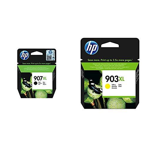 HP 907XL T6M19AE Cartuccia Originale per Stampanti a Getto di Inchiostro & 903XL T6M15AE Cartuccia Originale per Stampanti a Getto di Inchiostro, Compatibile con Stampanti HP OfficeJet 6950