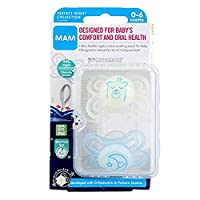 MAM Glow in The Dark Pacifiers, Baby Pacifier 0-6 Months, Best Pacifier for Breastfed Babies, Boy, 2-Count