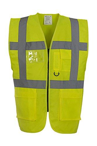 Hi-Vis Sicherheitsweste, Farbe:Hi Vis Yellow;Größe:XXL