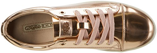 Buffalo 516-2139 Mirror Pu, Sneakers Basses Femme Or (ROSE 01)