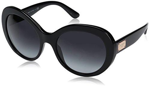 Dolce & Gabbana Damen 0DG4295 501/8G 57 Sonnenbrille, Schwarz (Black/Gradient),