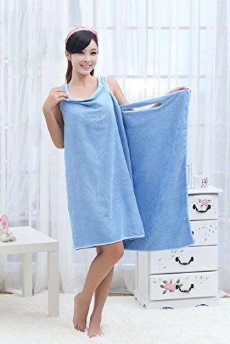 Styleys Bath TA Robe A Convenient Wearable Towel Free Size (Blue)