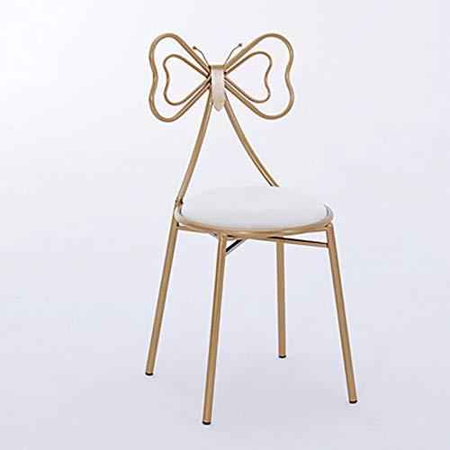 LSHUAIDJ Einfache schmiedeeisernen Sessel/Home Restaurant Golden Dining Chair/Butterfly Chair/Metallskelett/sitzende Nicht müde, bequem-style6 -