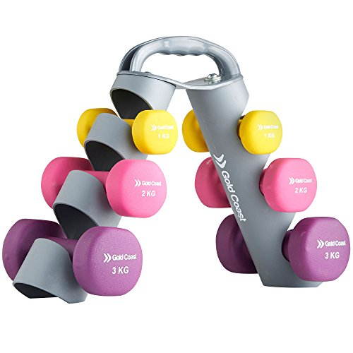 gold-coast-12kg-neoprene-dumbbell-weights-set-with-adjustable-carry-stand
