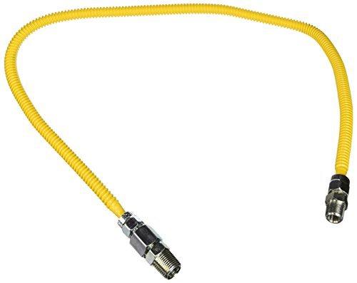 BrassCraft CSSL57-36 ProCoat 1/2 FIP x 3/8 MIP x 36 Stainless Steel Gas Connector 3/8 O.D. (33,400 BTU) by BrassCraft -