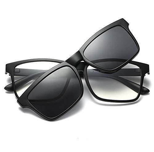 3DYANJIN Tr Brille Stehen DREI in Einem polarisierenden Sonnenbrillen nachtsicht Magnet - Brille 3D - Brille