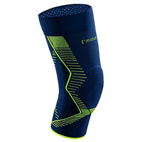 medi Genumedi E⁺motion - Kniebandage unisex | blau/grün | Größe 5 extraweit | Sportbandage für hohe Stabilität und extra viel Bewegungsfreiheit | Beidseitig tragbar