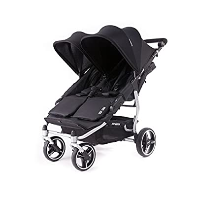 Baby Monsters- Silla Gemelar Easy Twin 3.0.S ( Silver ) - Color Negro + REGALO de un bolso de polipiel (capota normal) Danielstore