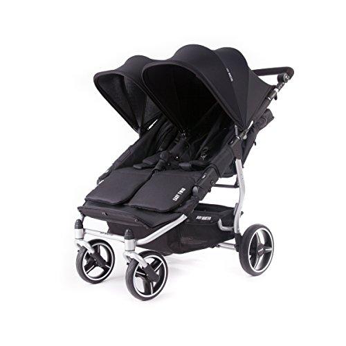 Baby Monsters- Silla Gemelar Easy Twin 3.0.S (Silver) - Color Negro + REGALO de un bolso de polipiel (capota normal) Danielstore