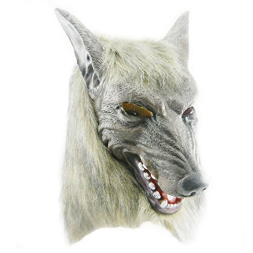 Samgoo Halloween Horror Werwolf Maske Vollmaske Latex Mottoparty Deko