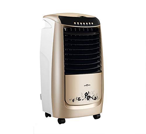 FKYGDQ Klimaanlagenventilator, Hauptkühlung Luftkühler Doppelmotor Champagne Gold Fernsteuerungs 290 * 280 * 670mm Lüfter für Klimaanlage
