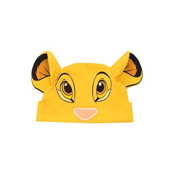 Disney Conjunto de Pijama Entera y Gorro para Niños Bebés El Rey león 3