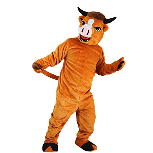 Langteng orange Kuh Cartoon Maskottchen Kostüm Echt Bild 15-20Tage Marke