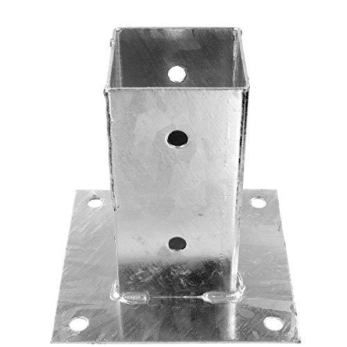 1 Aufschraubhülse - Durchmesser 71 mm für 70 mm Holzpfosten 150 mm Höhe - feuerverzinkt