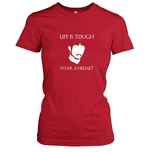 TEXLAB - GoT: Life is Tough. Wear a Helmet - Damen T-Shirt Rot