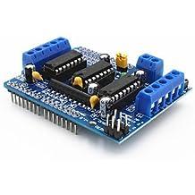 Robotbanao L293D Motor Drive Shield for Arduino UNO Mega2560 (Black)